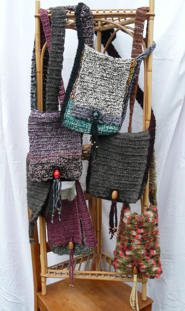 crochet shoulder bags